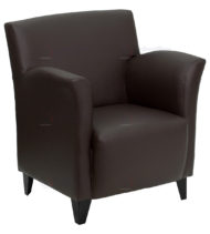 HERCULES Roman Series Brown Leather Reception Chair -0