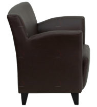 HERCULES Roman Series Brown Leather Reception Chair -18564