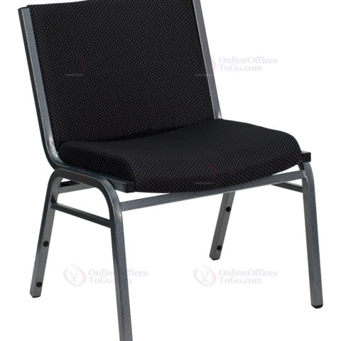 HERCULES Series 1000 lb. Capacity Big and Tall Extra Wide Black Fabric Stack Chair -0