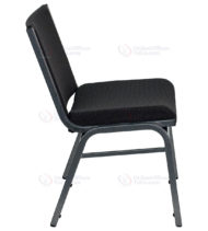 HERCULES Series 1000 lb. Capacity Big and Tall Extra Wide Black Fabric Stack Chair -17629