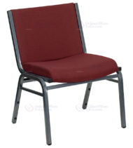 HERCULES Series 1000 lb. Capacity Big and Tall Extra Wide Burgundy Fabric Stack Chair -0