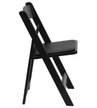 HERCULES Series 1000 lb. Capacity Black Resin Folding Chair with Black Vinyl Padded Seat -16744