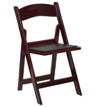 HERCULES Series 1000 lb. Capacity Red Mahogany Resin Folding Chair with Black Vinyl Padded Seat -0