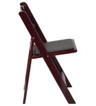 HERCULES Series 1000 lb. Capacity Red Mahogany Resin Folding Chair with Black Vinyl Padded Seat -16748