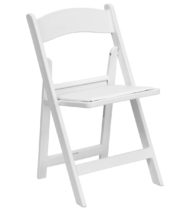 HERCULES Series 1000 lb. Capacity White Resin Folding Chair with White Vinyl Padded Seat -0