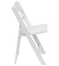 HERCULES Series 1000 lb. Capacity White Resin Folding Chair with White Vinyl Padded Seat -16752