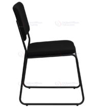 HERCULES Series 1000 lb. Capacity High Density Black Fabric Stacking Chair with Sled Base -17669