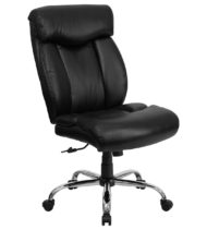 HERCULES Series 400 lb. Capacity Big & Tall Black Leather Office Chair -0