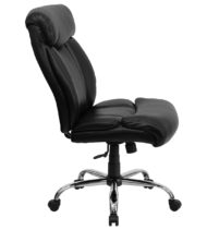 HERCULES Series 400 lb. Capacity Big & Tall Black Leather Office Chair -16069