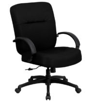 HERCULES Series 400 lb. Capacity Big & Tall Black Fabric Office Chair with Arms and Extra WIDE Seat -0