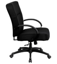 HERCULES Series 400 lb. Capacity Big & Tall Black Fabric Office Chair with Arms and Extra WIDE Seat -17346
