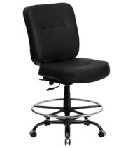 HERCULES Series Big and Tall Black Leather Office Chair-0