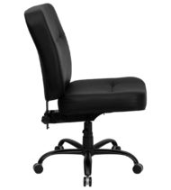 HERCULES Series Big and Tall Black Leather Office Chair-17386