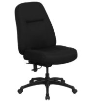 HERCULES Series 400 lb. Capacity High Back Big & Tall Black Fabric Office Chair with Extra WIDE Seat -0