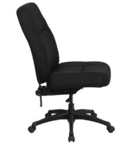 HERCULES Series 400 lb. Capacity High Back Big & Tall Black Fabric Office Chair with Extra WIDE Seat -17354