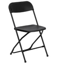 HERCULES Series 800 lb. Capacity Premium Black Plastic Folding Chair -0
