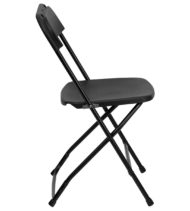 HERCULES Series 800 lb. Capacity Premium Black Plastic Folding Chair -16760