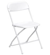 HERCULES Series White Folding Chair-0