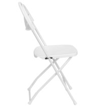 HERCULES Series 800 lb. Capacity White Plastic Fan Back Folding Chair -16770