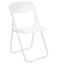 HERCULES Series 880 lb. Capacity Heavy Duty White Plastic Folding Chair -0