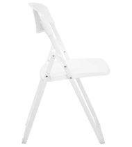 HERCULES Series 880 lb. Capacity Heavy Duty White Plastic Folding Chair -17175