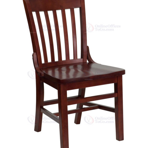 Hercules Series Mahogany Finished School House Back Wooden Restaurant Chair-0