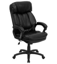 HERCULES Series High Back Black Leather Executive Office Chair -0