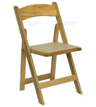 HERCULES Series Natural Wood Folding Chair with Vinyl Padded Seat -0