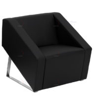 HERCULES Smart Series Black Leather Reception Chair -0