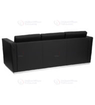HERCULES Trinity Series Contemporary Black Leather Sofa with Stainless Steel Base -18582