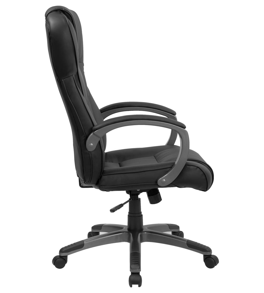 Formfit Extra Plush Executive Black Leather Office Chair