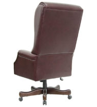 Value Star Traditional Tufted Leather Executive Office Chair -0