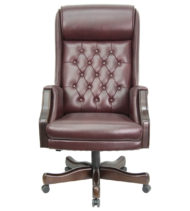 Value Star Traditional Tufted Leather Executive Office Chair -16739