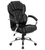 Aristocraft Transitional Black Leather Executive Office Chair-0