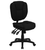 Value Star Mid-Back Multi-Functional Armless Ergonomic Black Fabric Task Chair-0