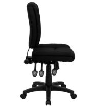 Value Star Mid-Back Multi-Functional Armless Ergonomic Black Fabric Task Chair-16177