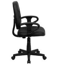 Value Star Manager Leather Task Chair, Black-15066
