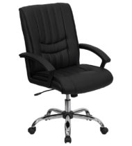 Value Star Black Leather Manager Chair-0