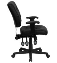 Value Star Adjustable Black Leather Manager Chair-11483
