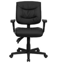 Value Star Adjustable Black Leather Manager Chair-0