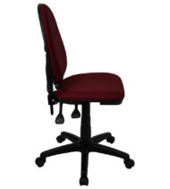 Mid-Back Burgundy Fabric Multi-Functional Task Chair with Adjustable Lumbar Support -17475