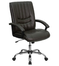 Value Star Espresso Leather Manager Chair-0