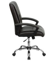 Value Star Espresso Leather Manager Chair-15501