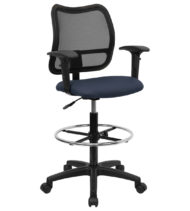 Performance Series Mid-Back Mesh Drafting Stool-0