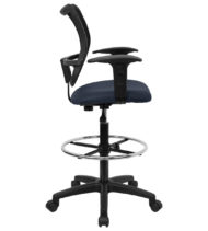 Performance Series Mid-Back Mesh Drafting Stool-17431