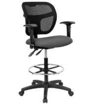 Performance Series Mesh Mid-Back Drafting Stool-0