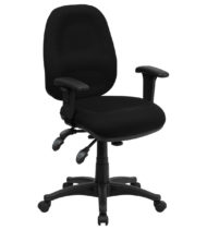 Value Star Multi-Functional Mid-Back Computer Chair, Black-0