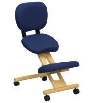 Ergoneel Mobile Wooden Ergonomic Kneeling Posture Chair-0