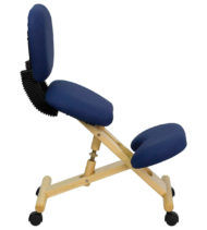 Ergoneel Mobile Wooden Ergonomic Kneeling Posture Chair-17522