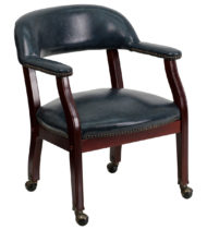 Legends Navy Conference Chair with Casters-0